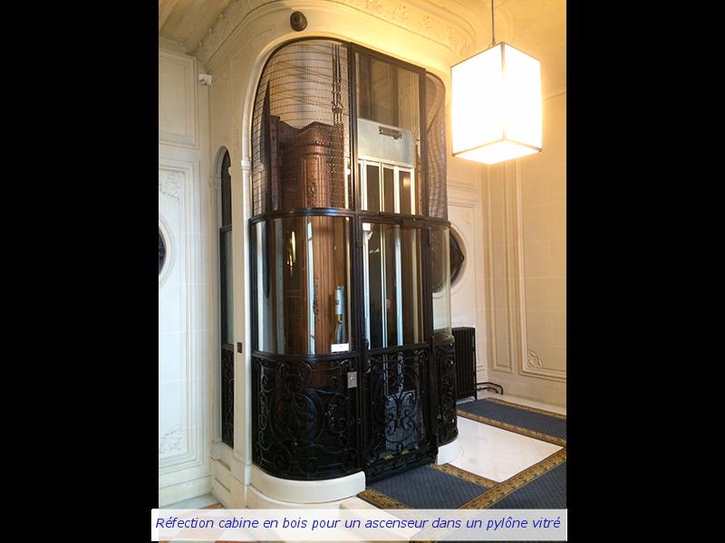 Travaux de réfection réalisés dans une cabine en bois